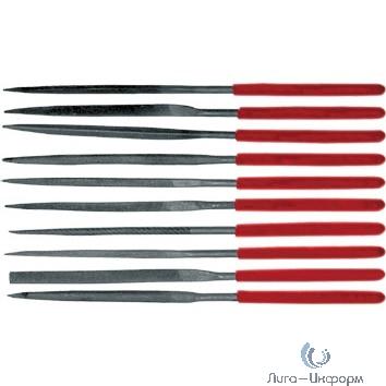 FIT DIY Надфили узкие ПВХ ручка 3х140 мм, 10 шт. [42170]