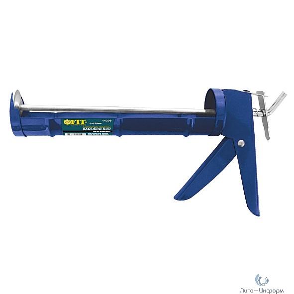FIT DIY Пистолет для герметика 225 мм полукорпусной, гладкий шток  [14209]