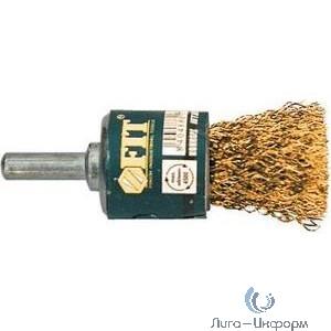 FIT IT Корщетка-венчик, со шифтом, стальная латунированная волнистая проволока 25 мм [38525]