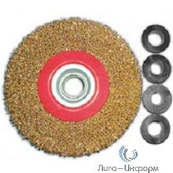 FIT IT Корщетка-колесо, стальная латунированная волнистая проволока 125 мм [39012]