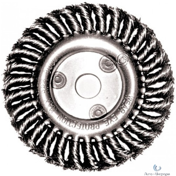 FIT IT Корщетка-колесо, посадочный диаметр 22,2 мм, стальная витая проволока 150 мм [39105]