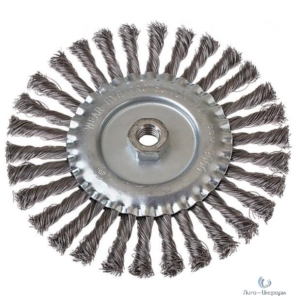 FIT IT Корщетка-колесо, гайка М14, стальная витая проволока 115 мм [39122]