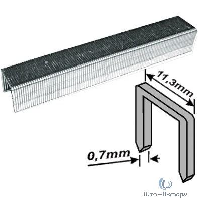 FIT HQ Скобы для степлера закалённые усиленные Профи 11,3 мм х 0,7 мм  (узкие тип 53) 12 мм, 1000 шт. [31332]