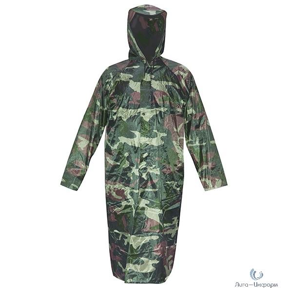 """CHINA Плащ дождевик с капюшоном и карманами """"Камуфляж"""", размер XXL [12162]"""