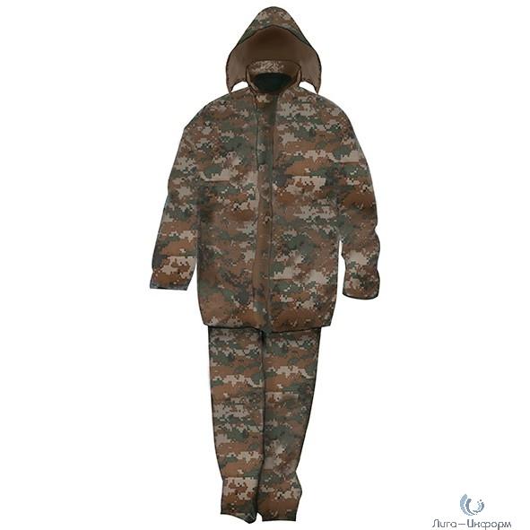 """CHINA Плащ дождевик с капюшоном, карманами и штанами """"Камуфляж"""", размер XXL [12166]"""