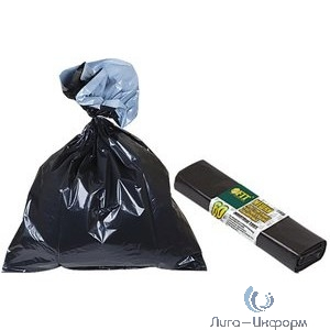 FIT РОС Мешки для строительного мусора, ПВД особопрочные, 240 л, 900х1400 мм, толщина 35 мкм, 10 шт.  [11942]
