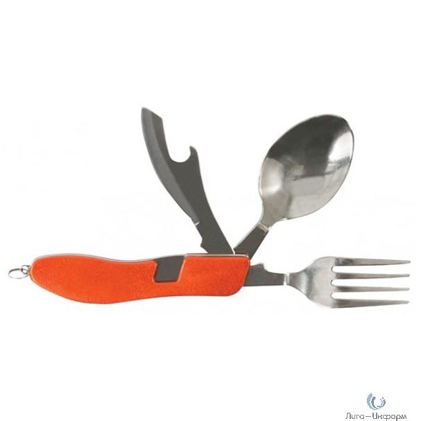 FIT DIY Набор туристический складной, 4 функции (вилка, ложка, нож, открывалка) [10542]