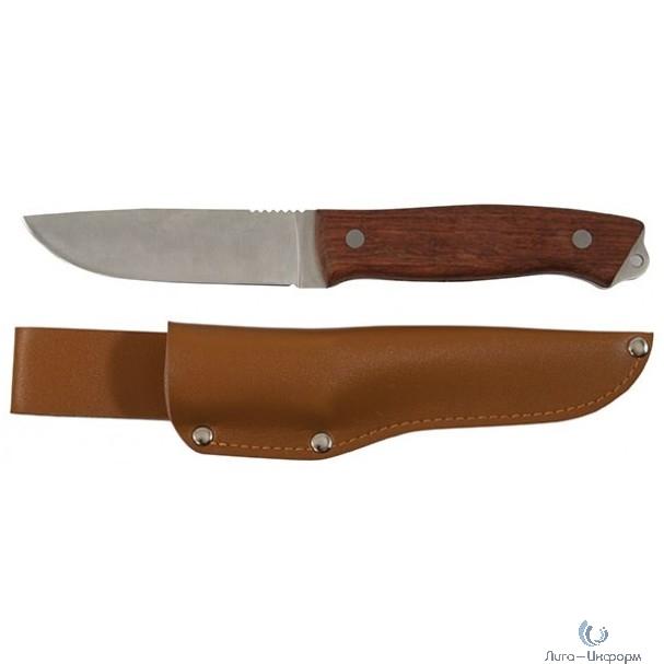 FIT IT Нож туриста, нерж.сталь, деревянная ручка, лезвие 105 мм [10730]