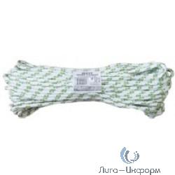 FIT РОС Фал капроновый плетеный 16-ти прядный с сердечником 8 мм х 20 м, р/н= 1000 кгс     [68428]