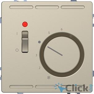 Schneider-electric MTN5760-6033 D-Life ТЕРМОРЕГУЛЯТОР с центр. пл. с выкл.230В, САХАРА, SD