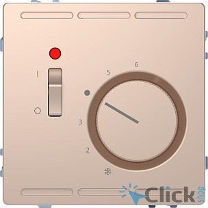 Schneider-electric MTN5760-6051 D-Life ТЕРМОРЕГУЛЯТОР с центр. пл. с выкл.230В, ШАМПАНЬ, SD