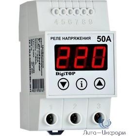 DigiTOP Vp-50A Реле напряжения однофазное на DIN-рейку, 50-400В, макс. 60А, 5-600 сек.