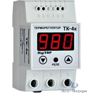 DigiTOP ТК-4к Терморегулятор одноканальный на DIN-рейку, 16А, 0...+999С