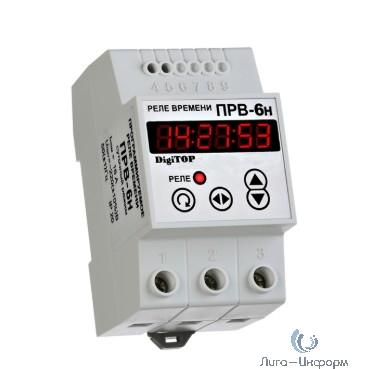 DigiTOP РВ-6н Программируемое реле времени (на DIN-рейку), недельное, макс 16А, 16 меток в сутки