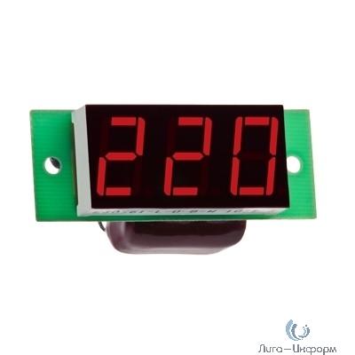 DigiTOP Вм-19(220в) Вольтметр бескорпусной переменного тока, однофазный, 100...400В, индикатор 19х40 мм