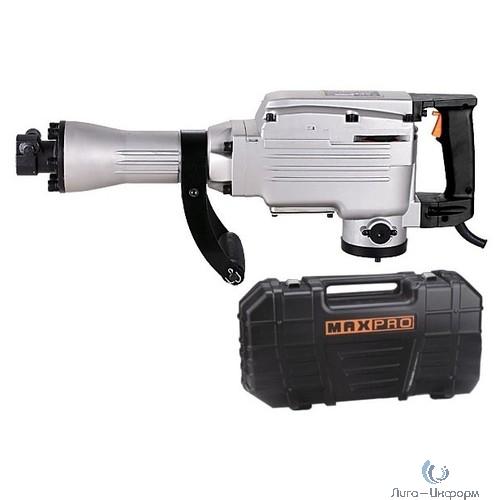 FIT MPDH1500 MAX-PRO Молоток отбойный электрический {1500Вт; 1400уд/мин; 45Дж; 30мм Hex;13,6кг; Резиновый Кабель; Кейс} [85105]