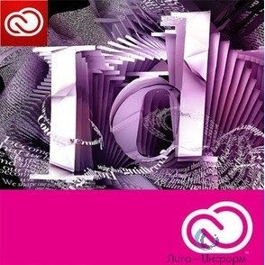 65297582BA01A12 InDesign CC for teams ALL Multiple Platforms Multi European Languages Team Licensing Subscription New