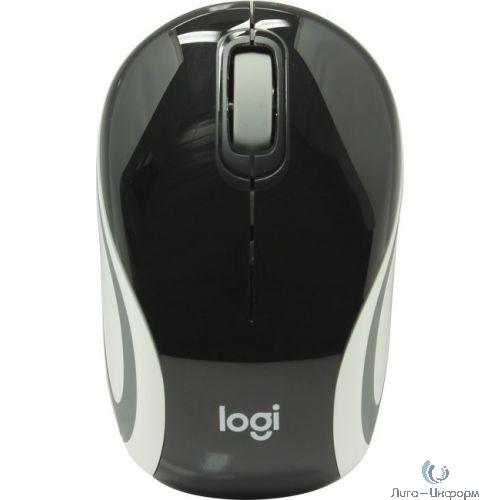910-002731 Logitech Mini M187 черный/серый оптическая (1000dpi) беспроводная USB для ноутбука (2but)