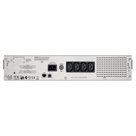 APC Smart-UPS C 1000VA SMC1000I-2URS Line-Interactive, 2U RackMount, LCD, out: 220-240V 4xC13, LCD, Gray, 1 year warranty, No CD/ cables