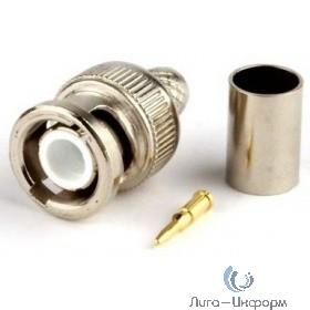 Hyperline CON-BNC-M-RG6-SLD Разъем BNC для кабеля RG-6, папа, пайка-обжим