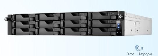 Asustor AS6212RD Сетевое хранилище 12-Bay, Intel Celeron Quad-Core, 4GB SO-DIMM DDR3L, GbE x 4, USB 3.0 x 4, WoL, System Sleep Mode, AES-NI hardware encryption, with lockable tray