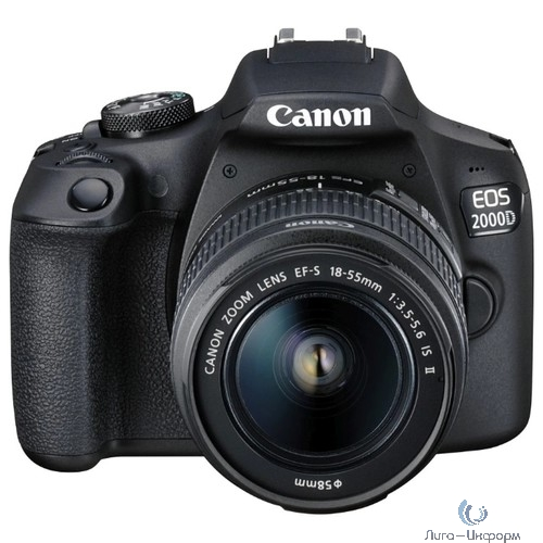 "Canon EOS 2000D черный {24.1Mpix 18-55mm f/3.5-5.6 III 3"" 1080p Full HD SDXC Li-ion (с объективом)}"