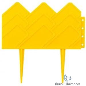 Бордюр декоративный GRINDA для клумб, 14х310см, желтый [422221-Y]