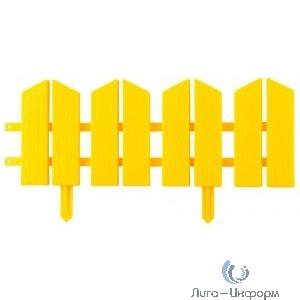 "Бордюр декоративный GRINDA ""ЛЕТНИЙ САД"", 16х300см, желтый [422225-Y]"