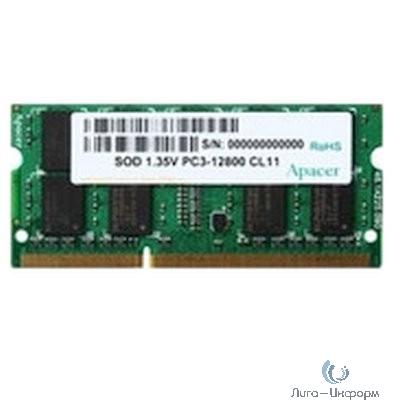 Apacer DDR3 SODIMM 4GB DV.04G2K.KAM PC3-12800, 1600MHz, 1.35V