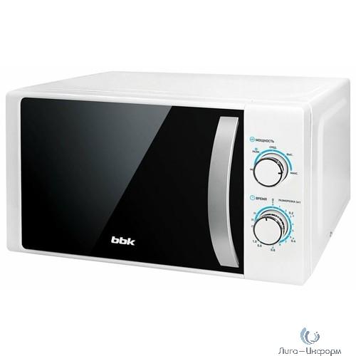 BBK 20MWS-711M/WS (W/S) Микроволновая печь, белый/серебро