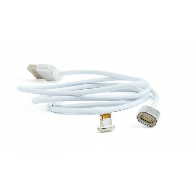 Cablexpert Кабель магнитный USB 2.0 CC-USB2-AMLMM-1M, AM/ iPhone lightning, магнитный кабель, 1м, алюминиевые разъемы, коробка