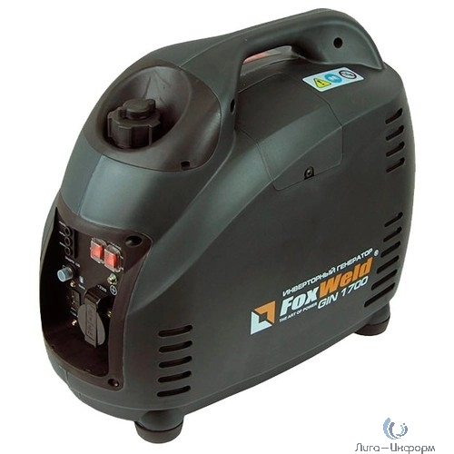FOXWELD  Бензиновый генератор инверторного типа GIN 1700{1,2/1,5кВт, бак 3,6л, расход(50%) 0,5л/ч,  18,5кг} [5215 fw]