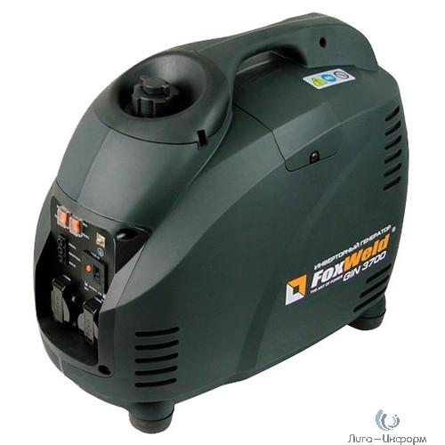 FOXWELD  Бензиновый генератор инверторного типа GIN 3700{ 3/3,5кВт, бак 5,7л,  расход(50%) 1,1л/ч,  29,5кг} [5218 fw]