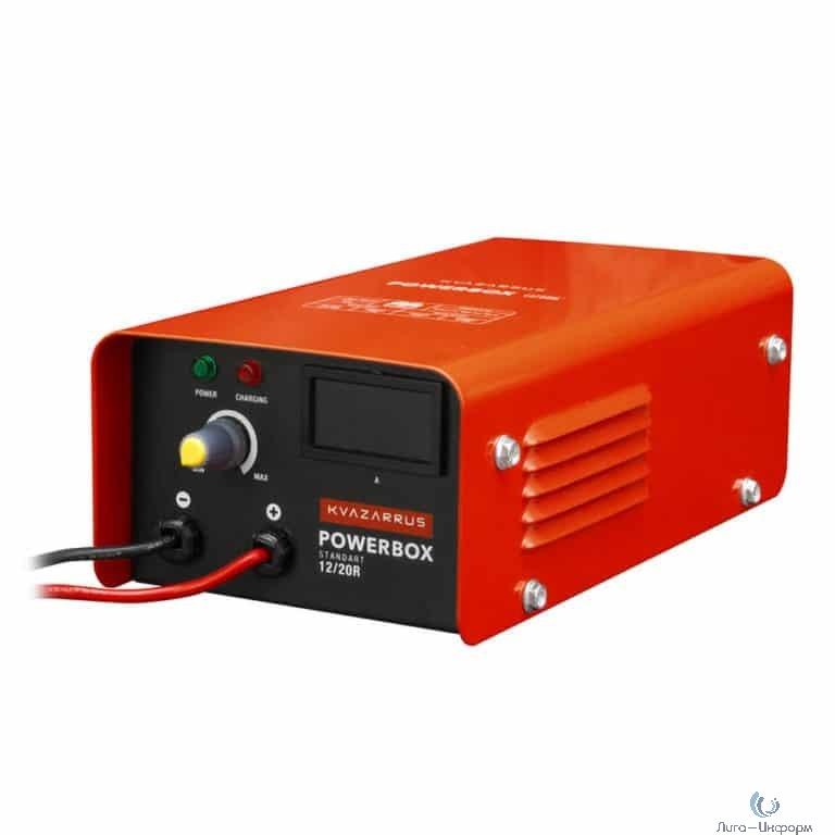 FOXWELD Зарядное устройство KVAZARRUS PowerBox 12/20R{ - 220В/50Гц,  - 1,8А, - 12В/30-300АЧ, ток заряда 5А-20А,, защита от перегрева, -40С - +60С} [6482]