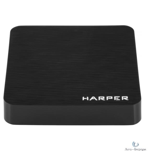 HARPER ABX-110 черный {Amlogic S905W Quad-Core Cortex-A53 2.0GHz; Оперативная память: 1GB DDR3; Постоянная память: 8GB eMMC}