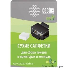 CACTUS Салфетки CS-P2003E для сбора тонера 100шт сухих