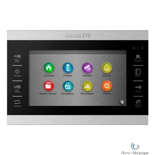 """Falcon Eye FE-70 ATLAS HD (Black) HD Видеодомофон: дисплей 7"""" TFT;  сенсорные кнопки; подключение до 2-х вызывных панелей и до 2-х видеокамер; адресный интерком; графическое меню; запись фото и видео"""