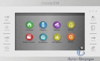 """Falcon Eye FE-70 ATLAS HD (White) HD Видеодомофон: дисплей 7"""" TFT;  сенсорные кнопки; подключение до 2-х вызывных панелей и до 2-х видеокамер; адресный интерком; графическое меню; запись фото и видео"""