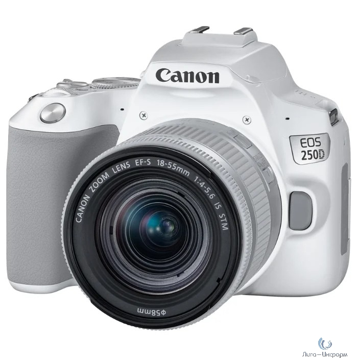 "Canon EOS 250D белый {24.1Mpix EF-S 18-55mm f/1:4-5.6 IS STM 3"" 4K Full HD SDXC Li-ion}"