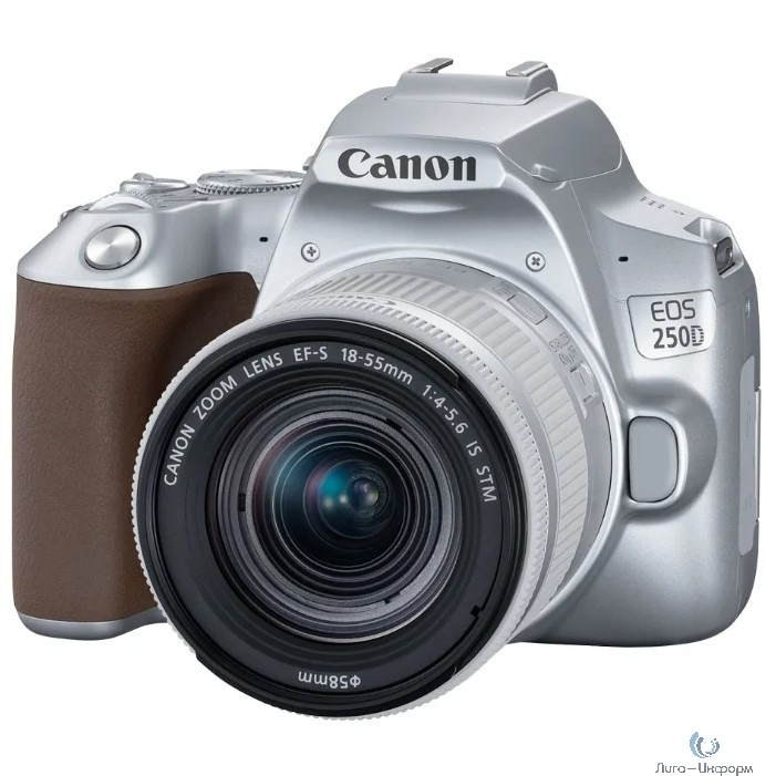 "Canon EOS 250D серебристый {24.1Mpix EF-S 18-55mm f/1:4-5.6 IS STM 3"" 4K Full HD SDXC Li-ion}"