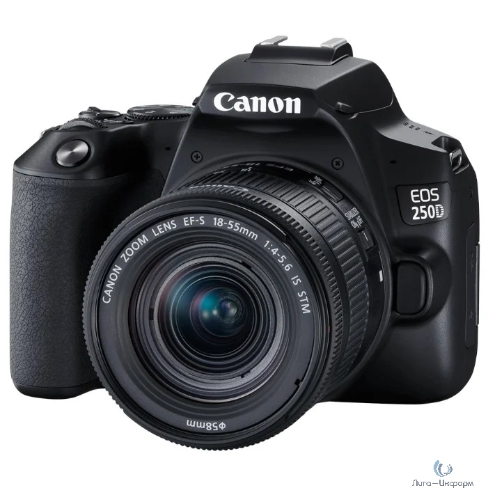 "Canon EOS 250D черный {24.1Mpix EF-S 18-55mm f/1:4-5.6 IS STM 3"" 4K Full HD SDXC Li-ion}"