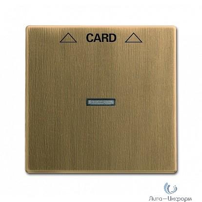 ABB 1710-0-4078 Плата центральная (накладка) для механизма карточного выключателя 2025 U, серия Династия, Латунь античная