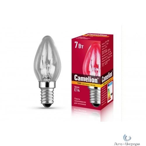 Camelion DP-704 (Эл.лампа накаливания для ночников, прозрачная, 220V, 7W, Е14)