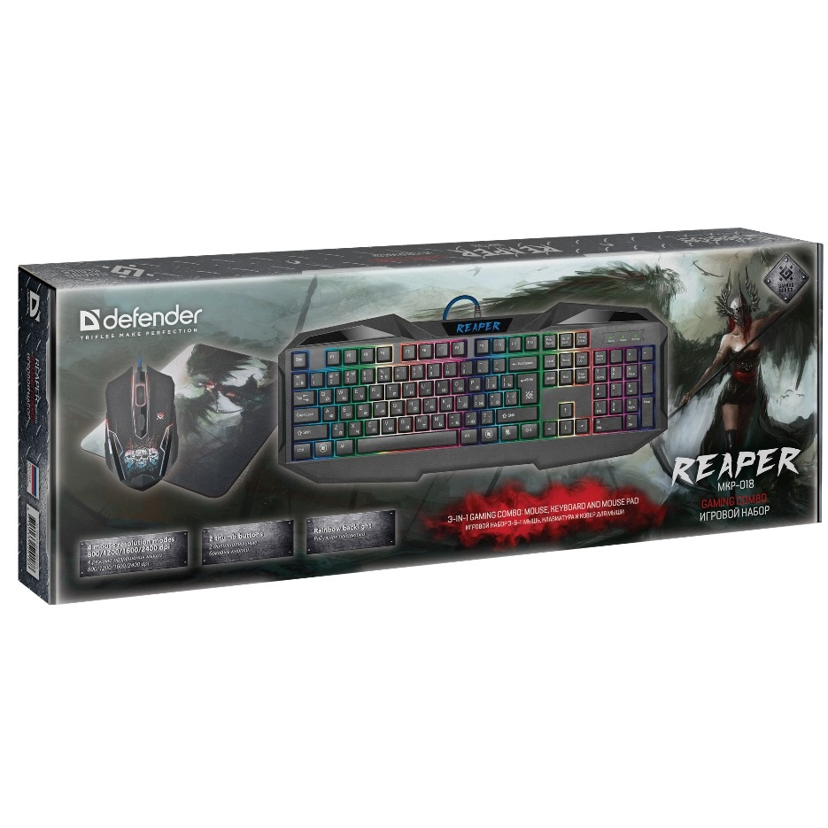 Defender Reaper MKP-018 RU [52018] мышь+клавиатура+ковер