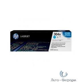 HP Картридж CC531AC лазерный голубой (2800 стр)  (белая корпоративная коробка)