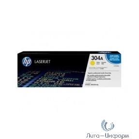 HP Картридж CC532AC лазерный желтый (2800 стр)  (белая корпоративная коробка)