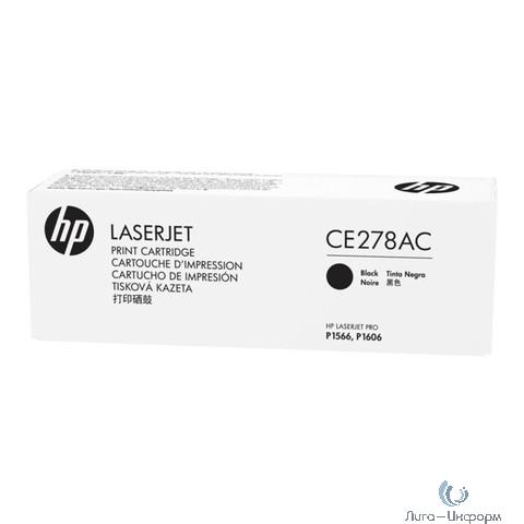 HP Картридж CE278AC лазерный (2100 стр)  (белая корпоративная коробка)