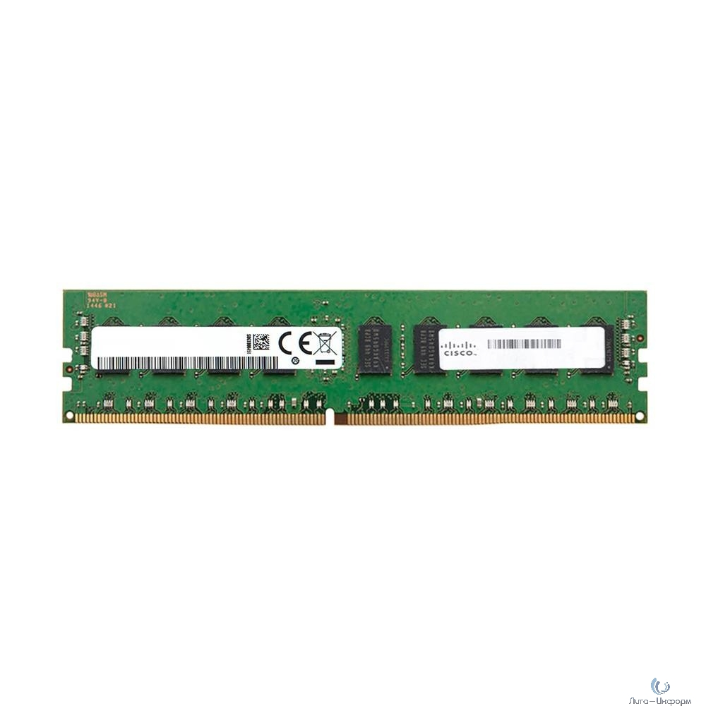 UCS-MR-1X081RV-A Модуль памяти 8GB DDR4-2400-MHz RDIMM/PC4-19200/single rank/x4/1.2v