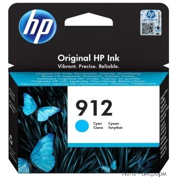 HP 3YL77AE Картридж № 912 струйный голубой (315 стр) {HP OfficeJet 801x/802x}