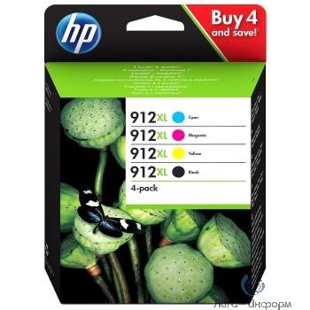 HP 3YP34AE Комплект картриджей HP 912 черный/голубой/пурпурный/желтый  {HP OfficeJet 801x}